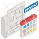 Project Plan Project Management Workflow Planning Icon