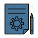 Project Plan Workflow Strategy Icon