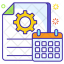 Project Planner Event Calendar Docket Icon