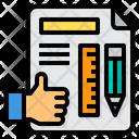 Planning Worker Hand Icon