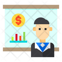 Business Man User Money Icon