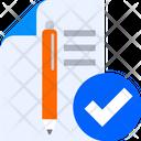 Project Report Check Verify Project Data Verify Icon