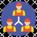 Project Staff Teamwork Icon