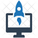 Launch Project Startup Rocket Icon
