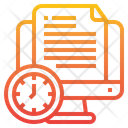 Project Time Management Document Icon