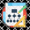 Project Workflow Scheme Flowchart Icon