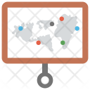 Projection World Map Icon