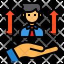 Leader Promote Businessman Icon