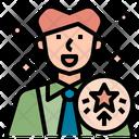 Promotion Businessman Employee Icon