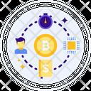 Time Bitcoin Data Icon
