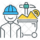 Proof Of Work Bitcoin Mining Icon