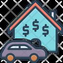 Property House Car Icon