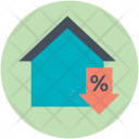 Property Rate Decrease Icon