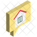 Chat Bubble House Sign Speech Bubble Icon