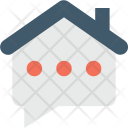Chat Bubble House Icon