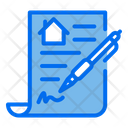 Property Agreement Real Estate Agreement Document Icon