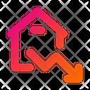 Property Graph Down Graph Property Chart Icon