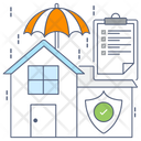 Home Protection Home Security Real Estate Icon