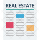 Property Papers Mortgage Real Estate Icon