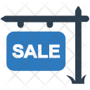 Property sale sign Icon