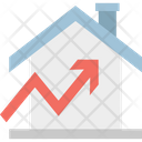 Property Value Price Increasing Building Icon