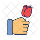 Rose Hand Gift Icon