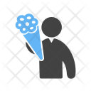 Propose Holding Flowers Icon