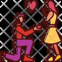 Proposing Happy Romantic Icon
