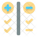 Pros And Cons Customer Satisfaction Feedback Icon