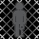 Man Leg Prosthesis Icon