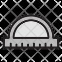Protactor School Ruler Icon