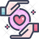 Protect Care Hands Love Icon