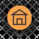 Protect Shield Building Icon