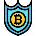 Protect Bitcoin Secure Bitcoin Protected Bitcoin Icon