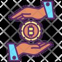 Protect Hand Bitcoin Protect Bitcoin Secure Bitcoin Icon
