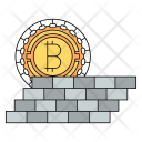 Protect Bitcoin Cryptocurrency Icon
