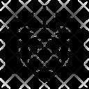 Pnemonia Virus Shield Icon