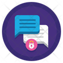 Protected Chat Chat Encrypted Icon