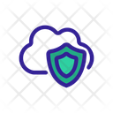 Cloud Shield Safe Icon