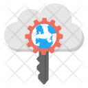 Protected Cloud Storage Icon