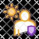 Sun Protected Man Icon