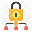 Cyber Lock Protected Network Lock Network Icon