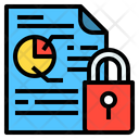 Protected Report File Secure Document File Icon
