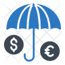 Protection Umbrella Dollar Icon
