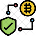 Protection Bitcoin Cryptocurrency Icon