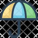 Umbrella Weather Education Icon