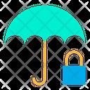 Umbrella Lock Protection Icon