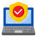 Laptop Protection Internet Icon