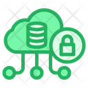 Cloud Database Lock Icon
