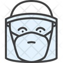 Transparent Mask Face Protection Icon